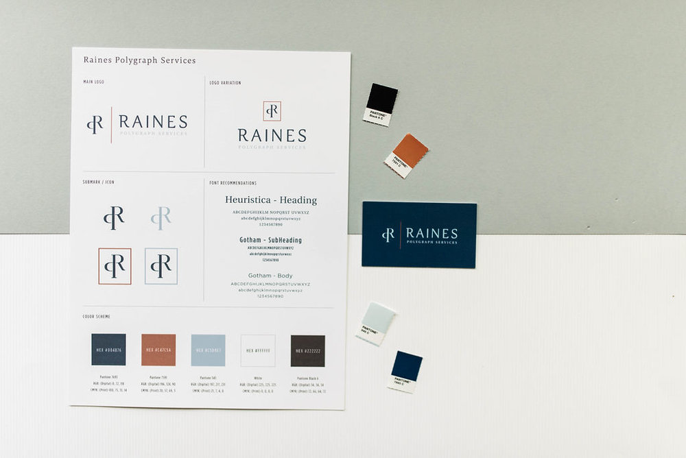 Raines Polygraph Services – Minimal masculine branding – Hayley Bigham Designs – Tulsa Oklahoma Branding Studio