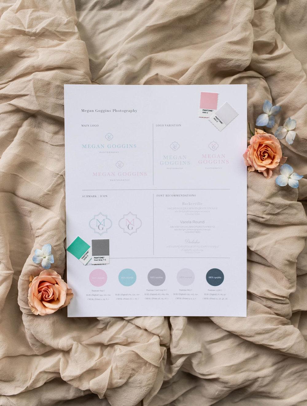 Megan Goggins Photography – classic monogram branding – Hayley Bigham Designs – Tulsa Oklahoma Branding Studio – feminine mint color