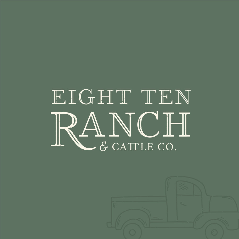 Eight Ten Ranch - Wedding Event Venue - Muskogee Oklahoma - Rustic Farmhouse Branding - HB Designs