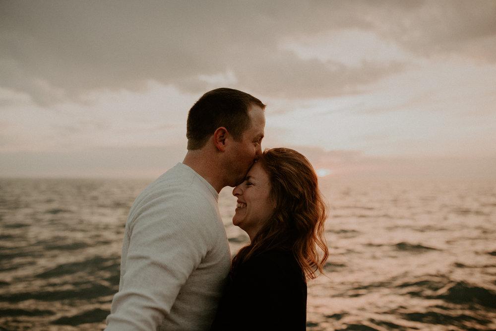 Ann Marie + Steven: Montrose Beach, Chicago, IL // Sunrise Engagement Session