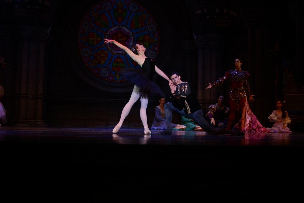 Brennan Wall (joining Ballet de Monterrey in Fall 2017) and Ryan Preciado (joining Ballet Memphis in Fall 2017) in The New Ballet's  Swan Lake. Photo by Francisco Preciado