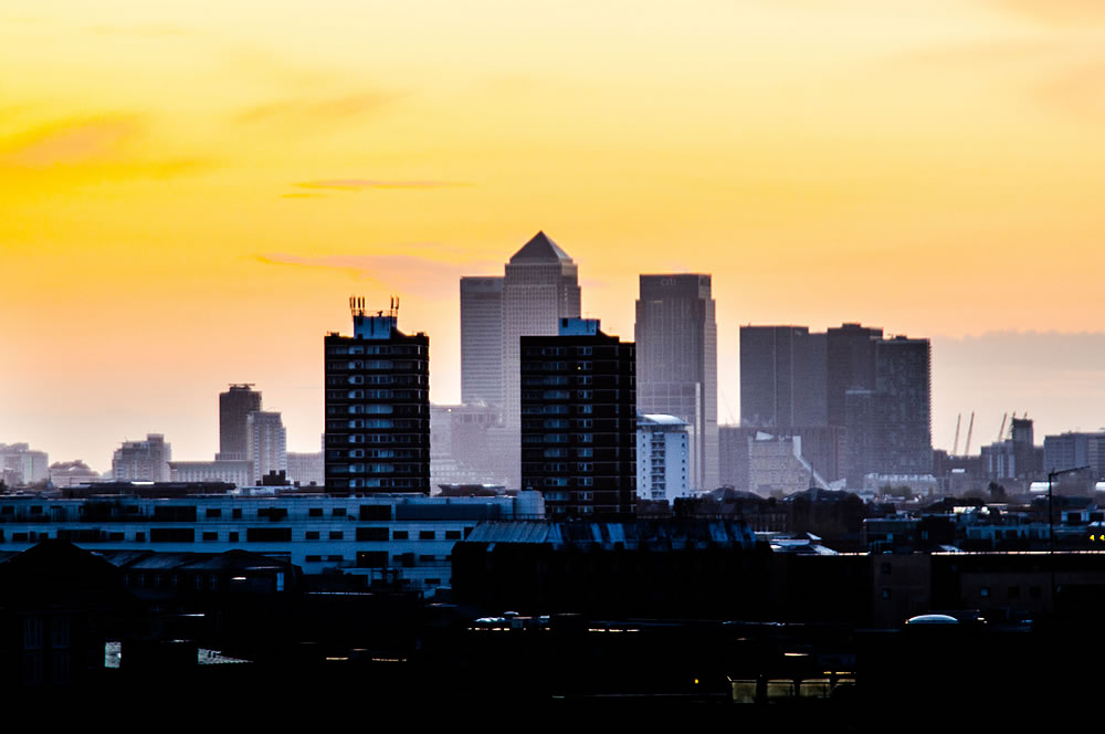 Sunrise over London