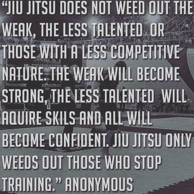 Go train! #consistencyiskey #nevergiveup #staytraining #jiujitsuforeveryone