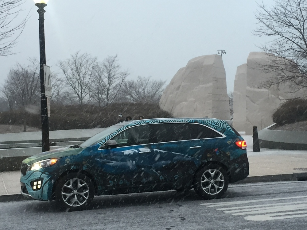 Kia Sorento Art Car - Martin Luther King Memorial