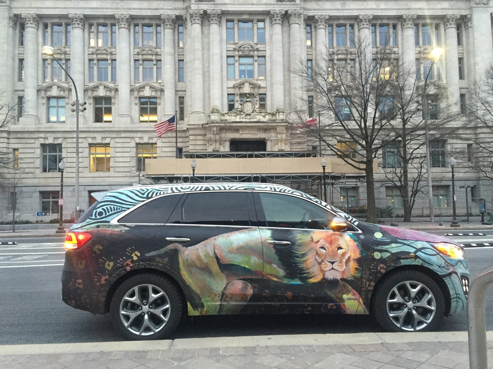 Kia Sorento Art Car - John A Wilson Building - DC City Hall