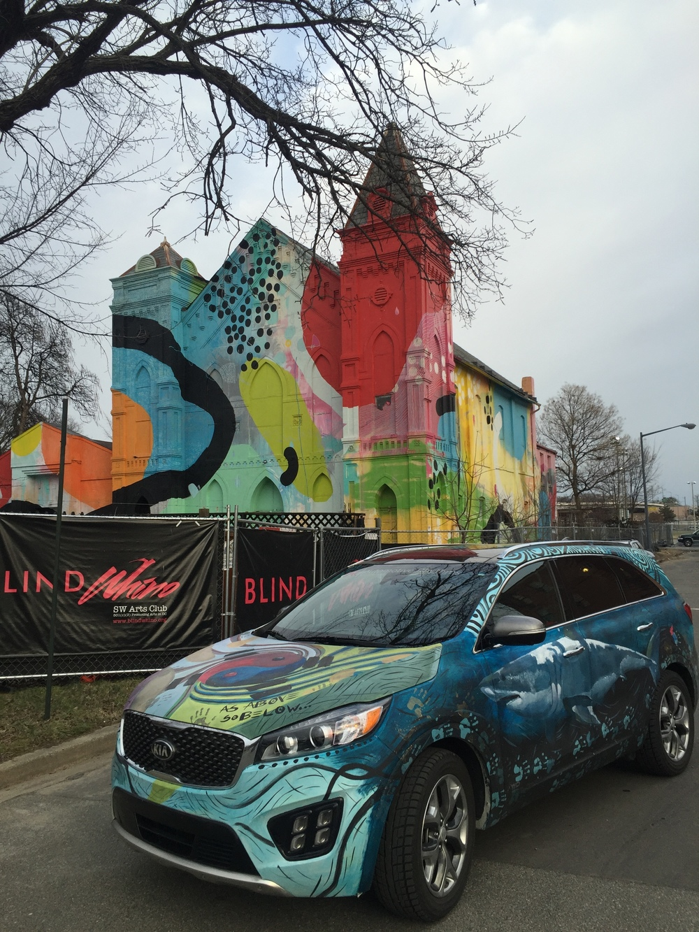 Kia Sorento Art Car - Blind Whino Art Club