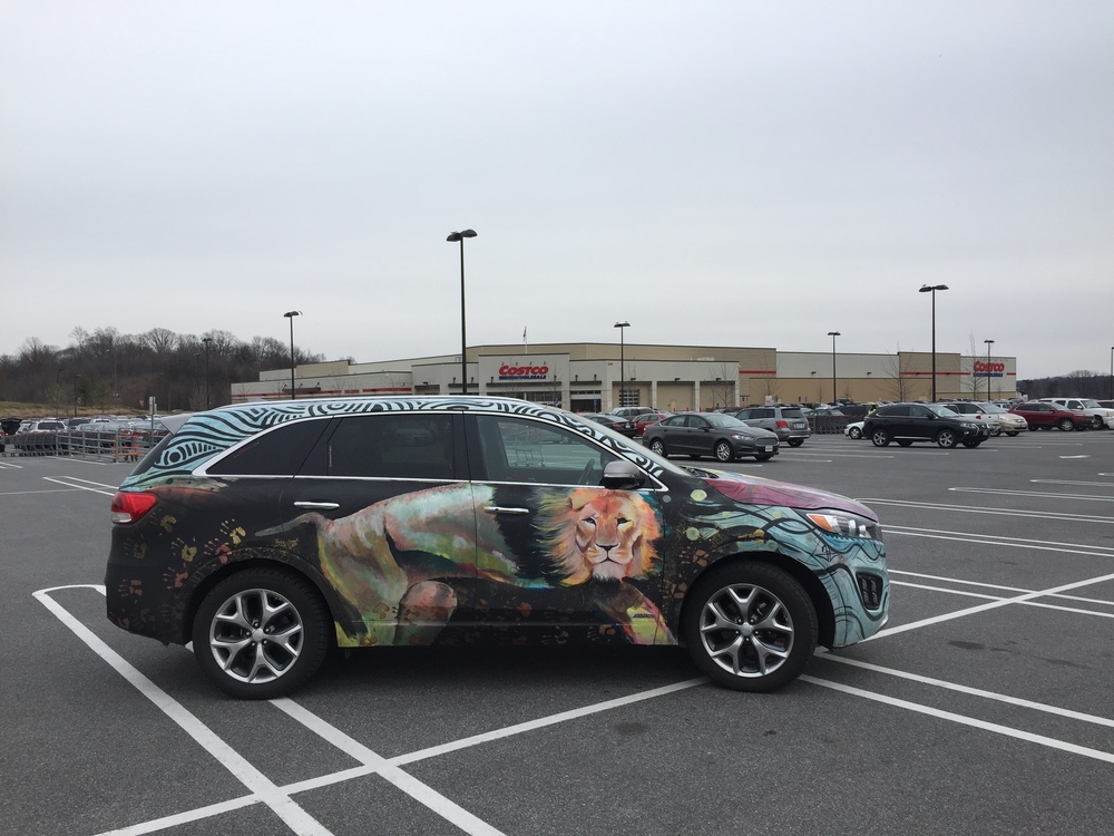 Kia Sorento Art Car - NE Costco