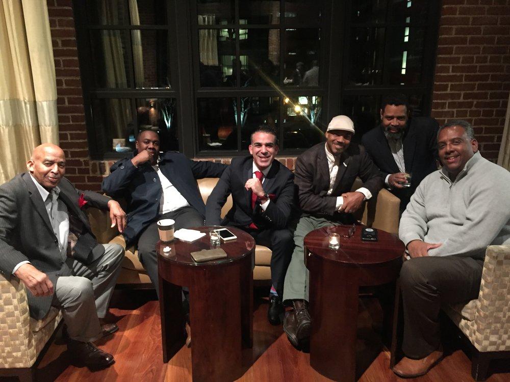 Kimatni Rawlins of Automotive Rhythms, Alex Giron, Marvin Bowser and Brian Armstead
