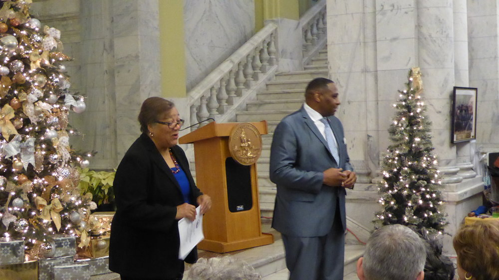 Reverend Holmes closed the ceremony