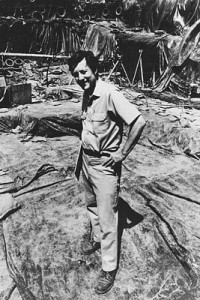 Stuart Struever on location at a dig.