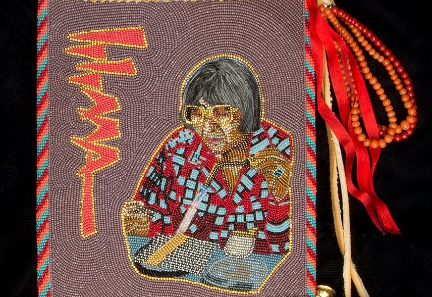 Detail: Beaded bag by Kenneth Williams Jr. (Arapaho/Seneca)