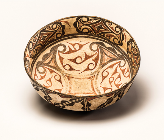 "Zuni dough bowl, circa 1880, 15"" diameter, attributed to We'wha (1849- 1896)"
