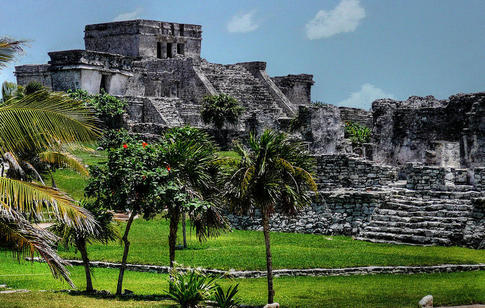 Pyramid at Tulum via  Wikimedia Commons