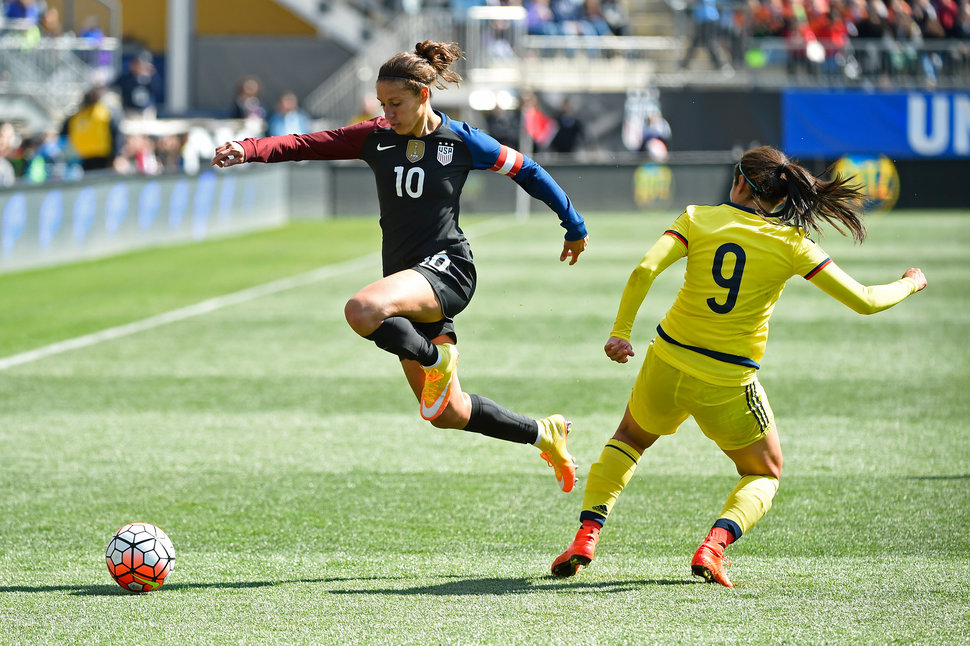 Carli Lloyd, photo by Rich Barnes via Getty Images