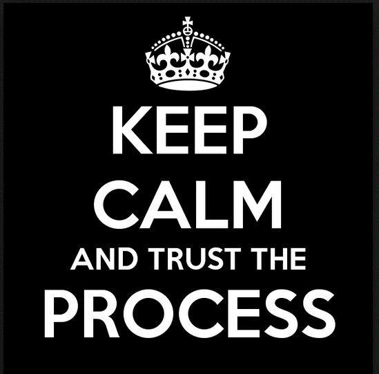Keep Calm Trust The Process