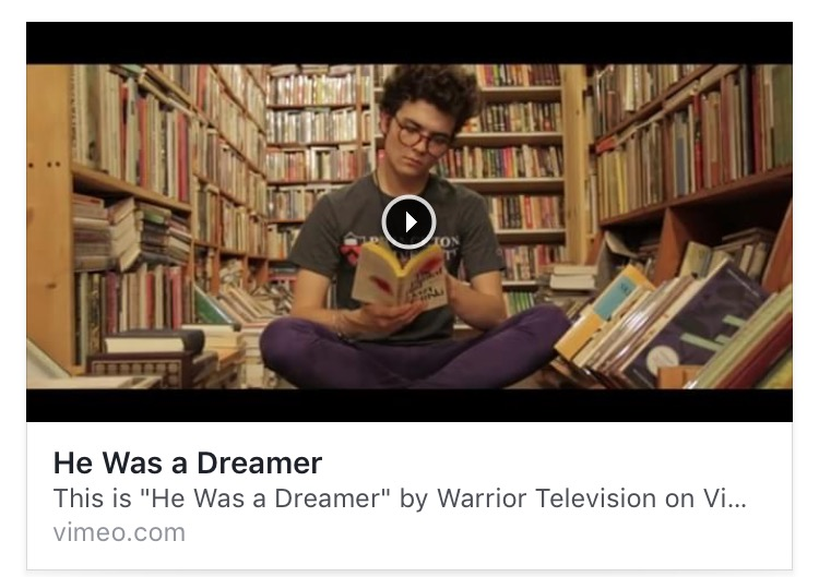 Watch o'donnell's poem 'He Was a Dreamer' come to life