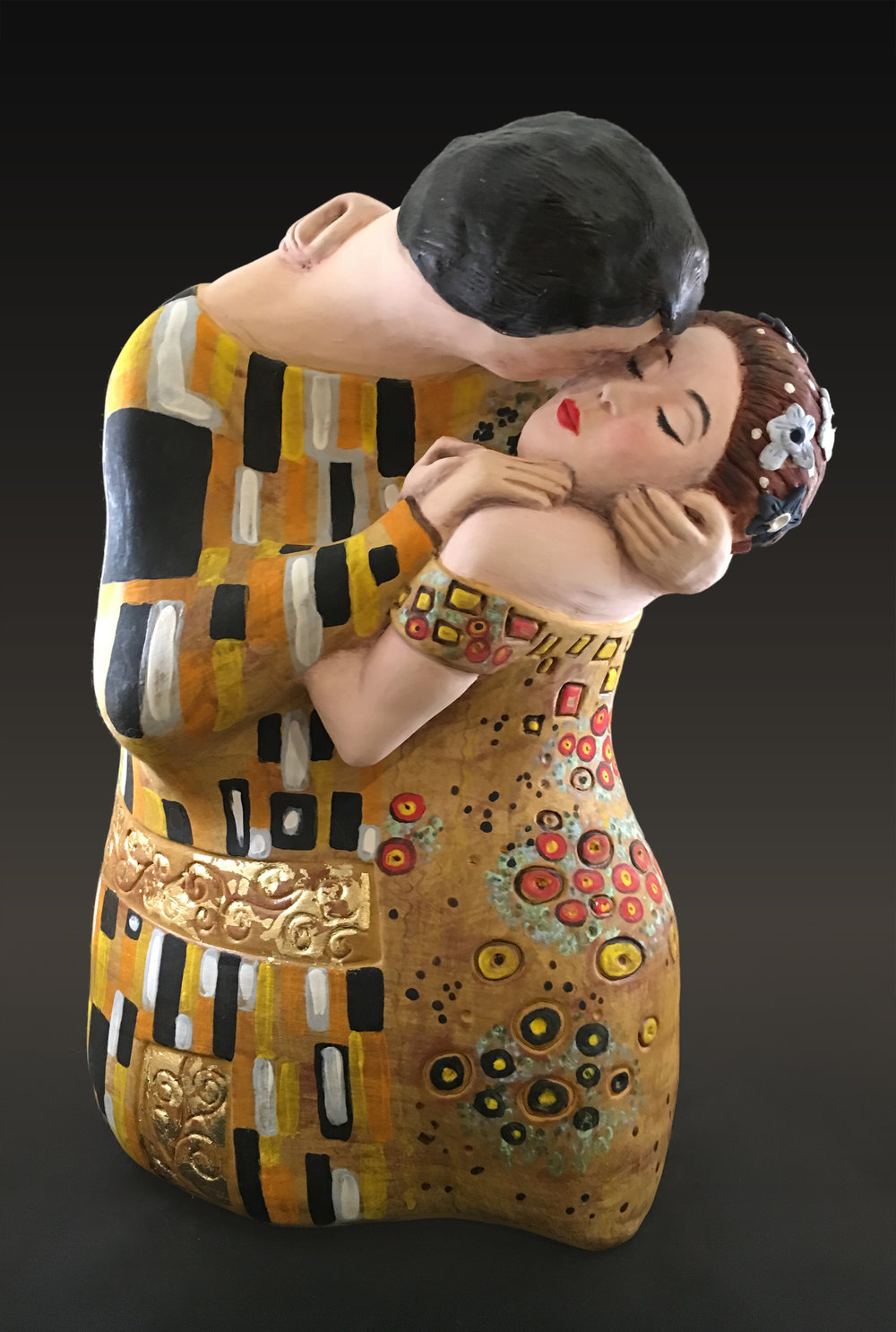 Sculpture 1 (based on The Kiss (Klimt))
