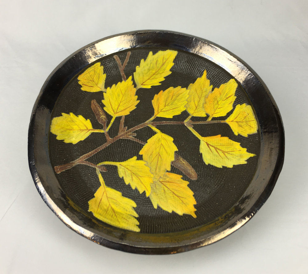 Plate with Birch Branch