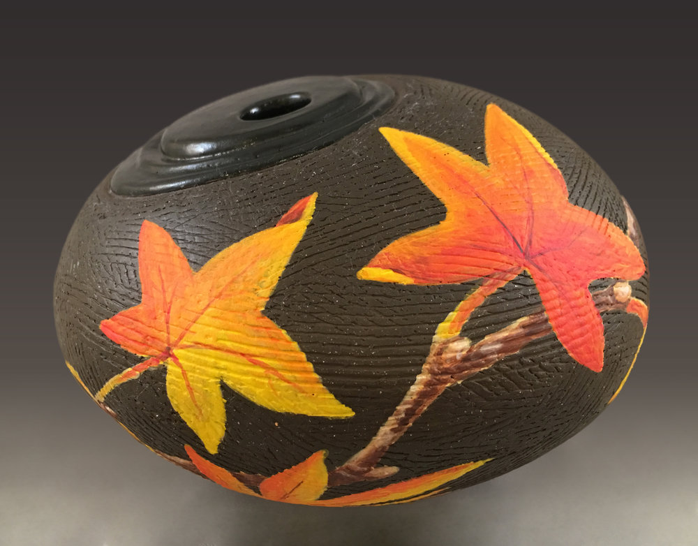 Maple Leaves Vase