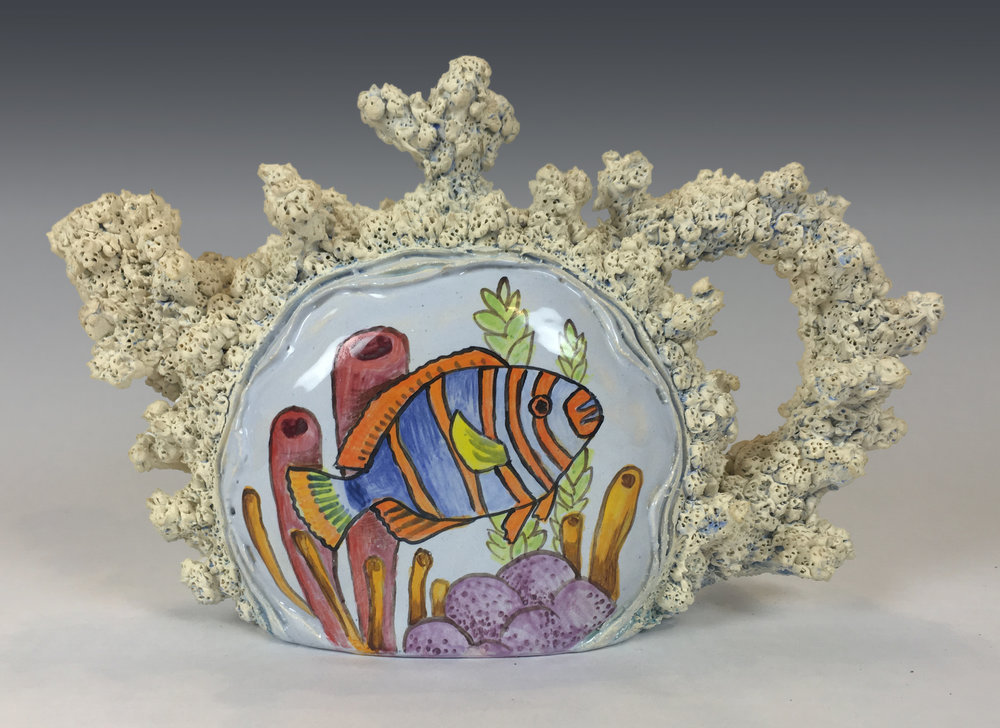 Teapot with Tropical Fish