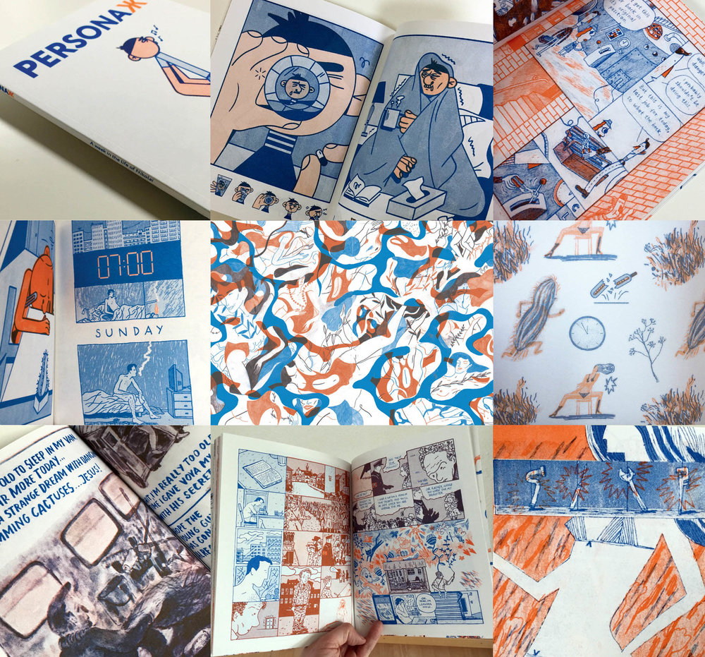 The final book, in full 64-page, perfect bound, two-colour Risograph glory.