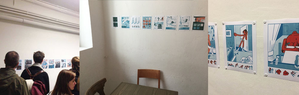 Nikolai's story on display at the Jailhotel for Fumetto Comix Festival 2016.