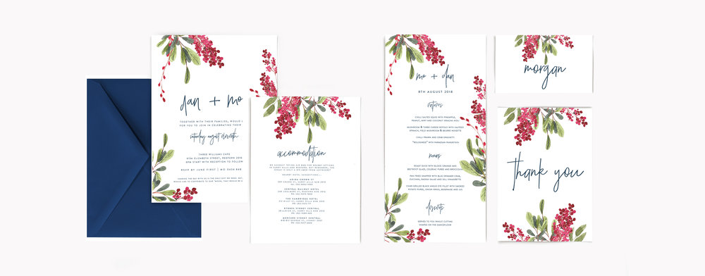 EVENTS  - invites and stationery