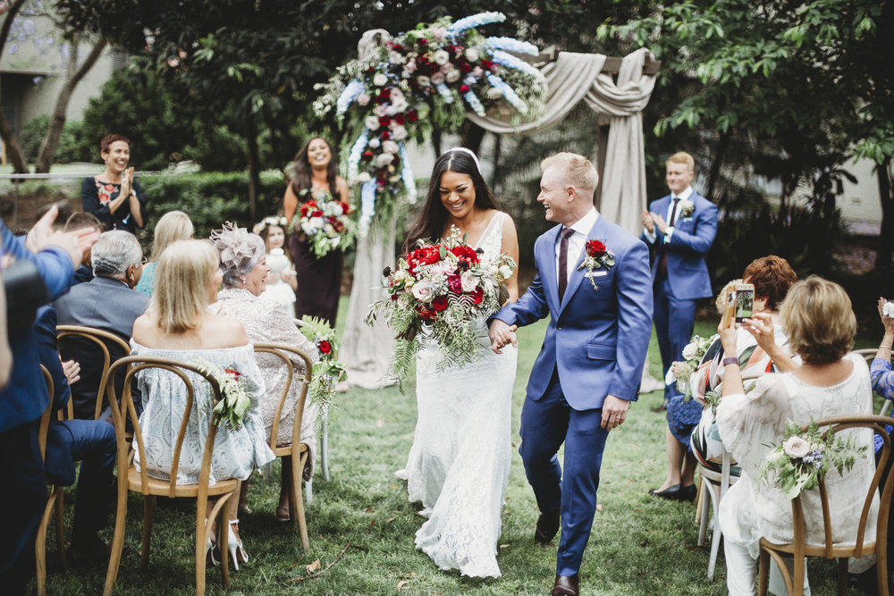 chantelle + james - Garden Wedding