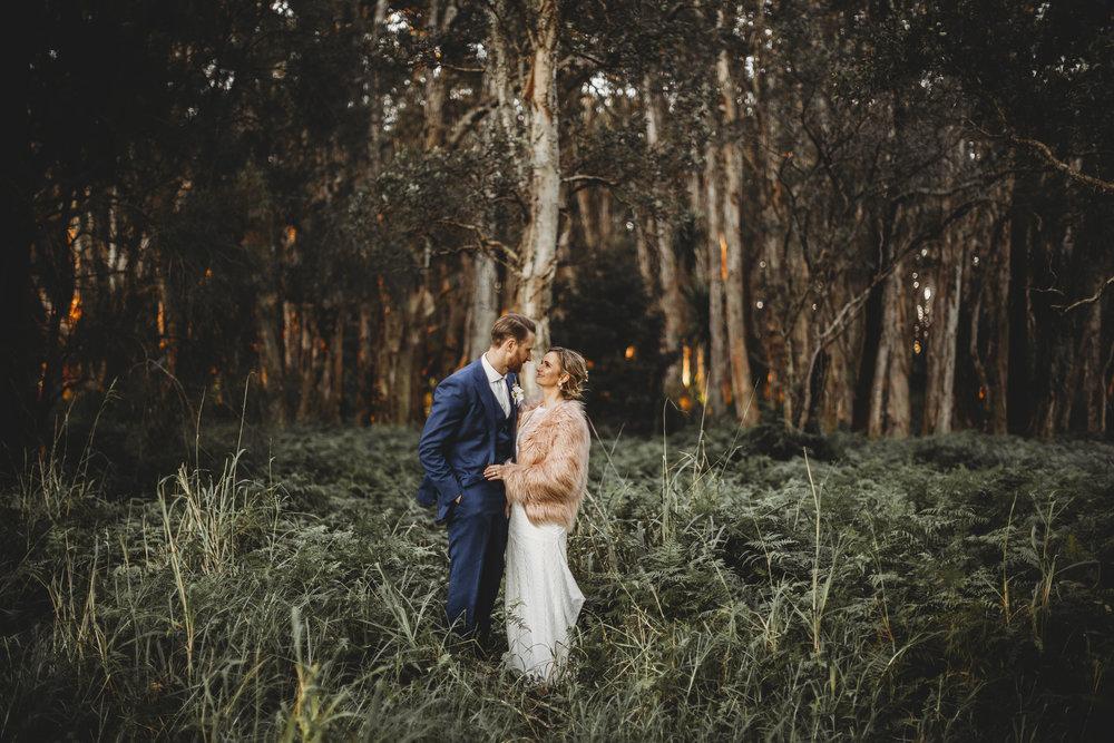 bec + matt - A Winter Parkland Wedding