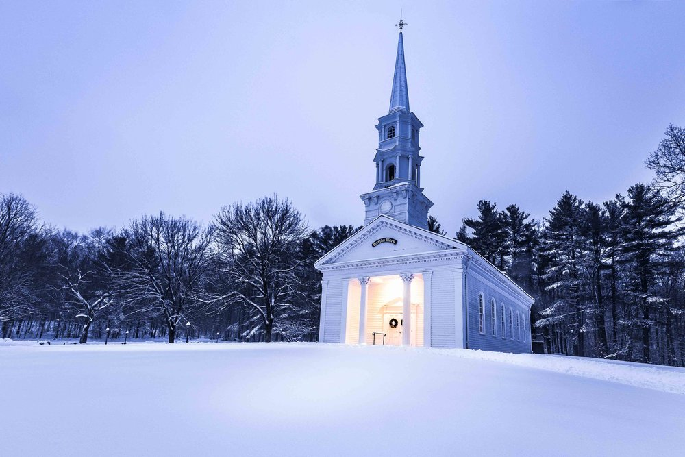 Martha Mary Church in Sudbury during Winter storm