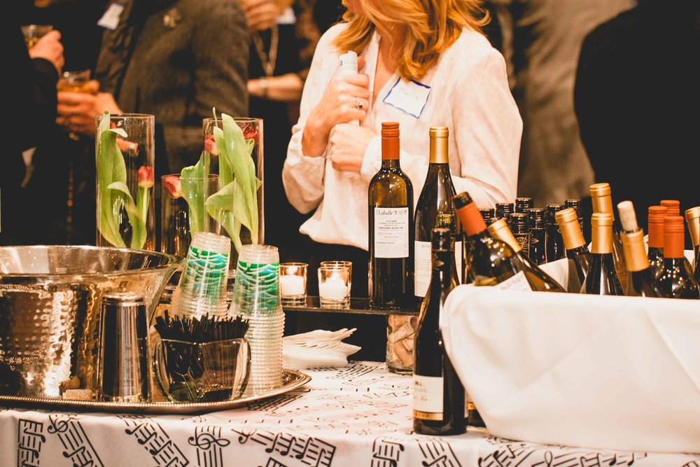 Wine at Goodnow Library Event