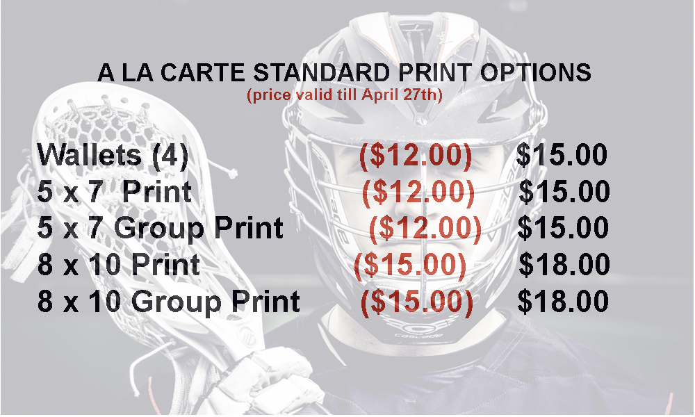 Shop a la carte Prints  - Save 15% by ordering prior to photo day