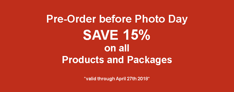 For even more savings, choose a Photo Package over a la carte items and save up to 50%!   - *Packages save 50% compared to buying individual items from the chosen packages