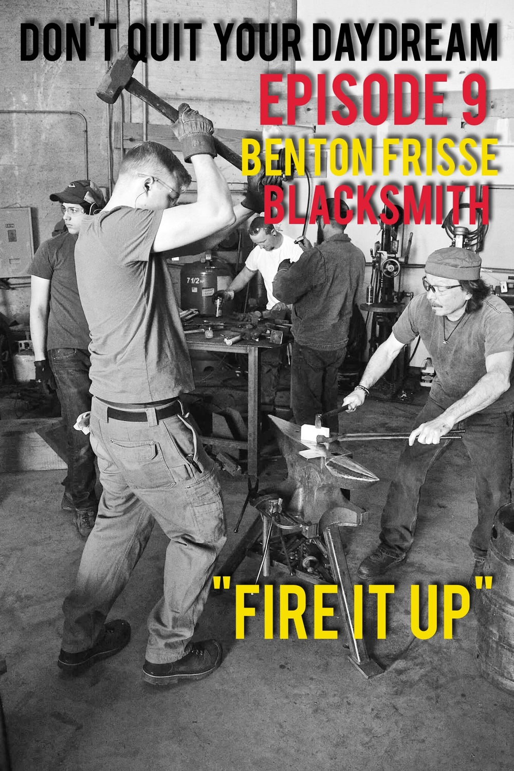 "Episode 9 features a conversation with the wonderful Benton Frisse who participates in perhaps the coolest hobby we've talked about yet, being a blacksmith. Benton discusses using ancient and modern techniques alike to create knives, arrows, axes and many other tools that not only look awesome but can be used for difficult outdoor activities. We discuss how realistic the blacksmithing is in shows like ""Game of Thrones"" and games like ""Skyrim"". Check out Benton's work and learn how to build your own arsenal! http://hallironworks.blogspot.com/ Oh and random side note, we must have upset the podcast gods because there's an echo during the intro however the rest of the actual interview sounds fine!"