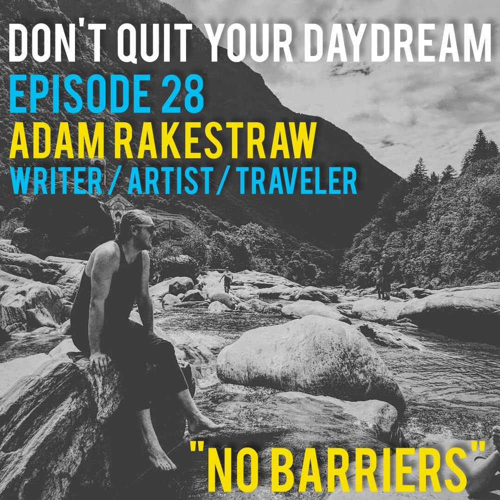 "We had the wonderful opportunity to sit down with visual artist and writer Adam Rakestraw before he departed for the Netherlands. A true student of art, Adam discusses what compels him to create and why he's not afraid to pull back the curtain on his personal life when he shares his writing with the world. Check out a fantastic documentary he was part of with Blackstrap Media called ""Generation Leftovers"": https://youtu.be/mpECSEb4BEU and read his blog to follow along with his current adventure http://adamruntheworld.blogspot.nl/   Song of the week is ""Blue Field"" from the beautiful yet haunting band, Stella. Find this song and the rest of their incredible discography at https://stellaart.bandcamp.com/"