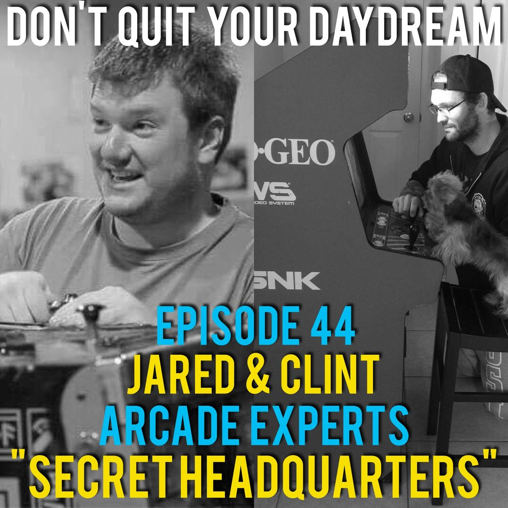 "In Episode 44 of Don't Quit Your Daydream we sit down with Arcade Experts: Clint and Jared! Clint and Jared operate the arcade half of the hangout destination, Secret Headquarters. They hilariously discuss being an odd business couples and how their opposite skill sets fit together like a puzzle. Focusing creating a place kids can go that is both fun and affordable, Clint & Jared are true assets to the community. Song of the week is ""Pronk"" from chip tune artist Hypnogram! I think this is are most appropriate fitting music/interview yet! https://smokingmirrors.bandcamp.com/album/hypnogra"