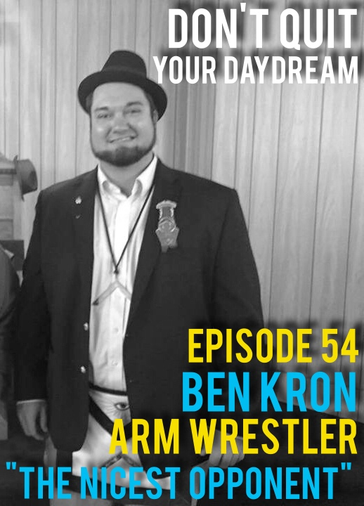 "Episode 54 is with state amateur arm wrestling champion: Ben Kron! As nice as he is strong Ben has won the super heavyweight category in Indiana, Kentucky and Illinois this year. We discuss the nuisances of the sport which includes psyching out opponents, curling weights constantly and learning how to not break your arm in the process. When Ben is not bringing home state championships he is running is very own deer farm ""Pond Flat Whitetails"". https://www.facebook.com/PondFlatWhitetails/?pnref=lhc  Song of the week is ""Kiss on the Hand"" by Wax Astro. Check em out:   https://waxastro.bandcamp.com/"