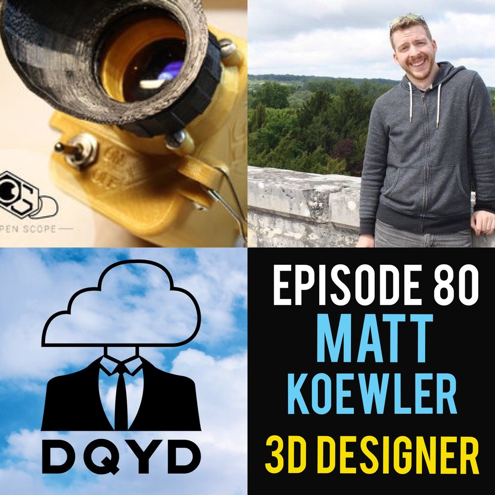 "Episode 80 with 3D Designer: Matt Koewler! From creating convincing visuals of buildings that don't yet exist to designing night vision goggles used in airsoft competitions, Matt has one of the most unique hobbies of anyone we've ever spoken to. He goes step by step with us how he perfected his ability to utilize emerging technology to craft something you can print out and hold in your hand. Follow Matt on his 3d crafting journey by visiting: Public night vision instructable: https://www.instructables.com/id/3D-Printed-Digital-Night-Vision-The-OpenScope/ Makerstation Makerspace; sign up for the makercourse 101 (2017 course dates TBA) to learn how to use a 3D printer, entry level 3D modeling/design, and more: https://www.growthallianceevv.com/technology-and-education/maker-space Tech on Tap; basically a network group for makers, innovators, entrepreneurs, students, and professionals. In the past, they've had workshops and the makerspace on main street. Most events in the makerspace will show up here: https://www.meetup.com/Evansville-Tech-on-Tap/?_cookie-check=6hy_5PbtYADiyH9Q   Tri-State Airsoft Facebook community page; best place to go if you're interested in getting started with airsoft. Typically people go to Silver Spur in Princeton for Saturday pick up games/play days. The page is run by Point3Airsoft (these are the guys I build tech for): https://www.facebook.com/groups/tristateairsoft/   Point3Airsoft web page; Typically this is where people can sign up for events run by P3A, but they'll typically link to the Tri-state airsoft FB group page as well.  http://point3airsoft.com/   Song of the week: ""A. Wolf"" by electronic genius Classy Mongrel https://classymongrelmusic.bandcamp.com/"