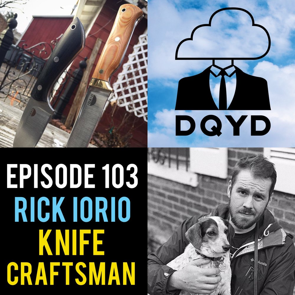 Episode 103 with Knife Craftsman: Rick Iorio! From designing the knife to physically creating it, Rick shares with us the many steps to bringing the idea of a blade into reality. Coming incredibly far in a modest amount of time he relays helpful hints and tips for the aspiring craftsman. Check him out on Instagram to get a rad Iorio knife yourself!  https://www.instagram.com/iorio_knives/