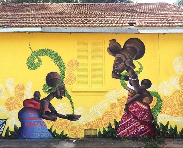New mural by @alexandreketo in Sao Paolo, Brasil// #powwowworcester #streetart