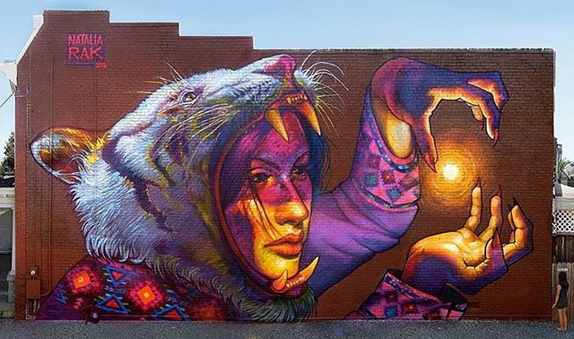 Mural by @nataliarakart in Richmond, VA// #powwowworcester #streetart