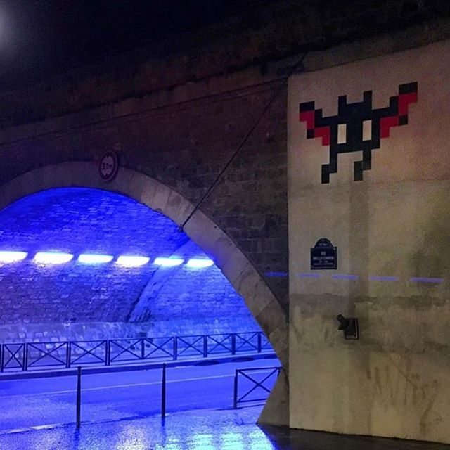 New install from @invaderwashere in Paris// #powwowworcester #streetart