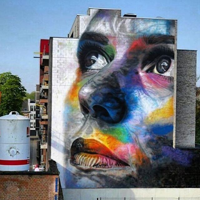 New mural by @artofdavidwalker// found via @streetartnews // #powwowworcester #StreetArt