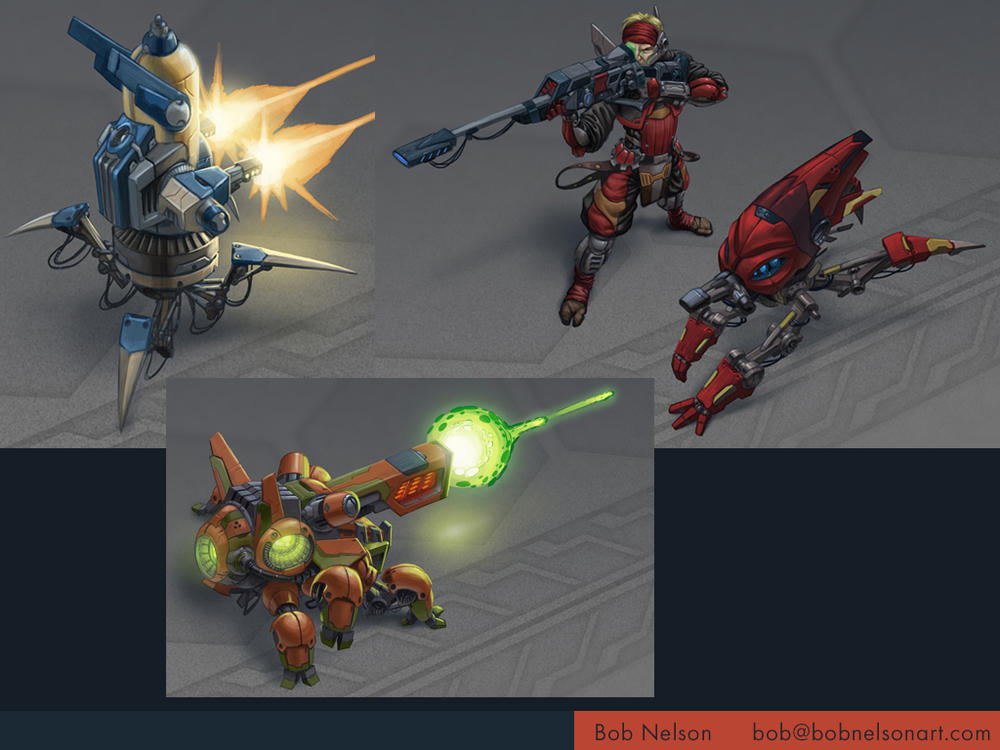 Unit concepts for a sci-fi RTS