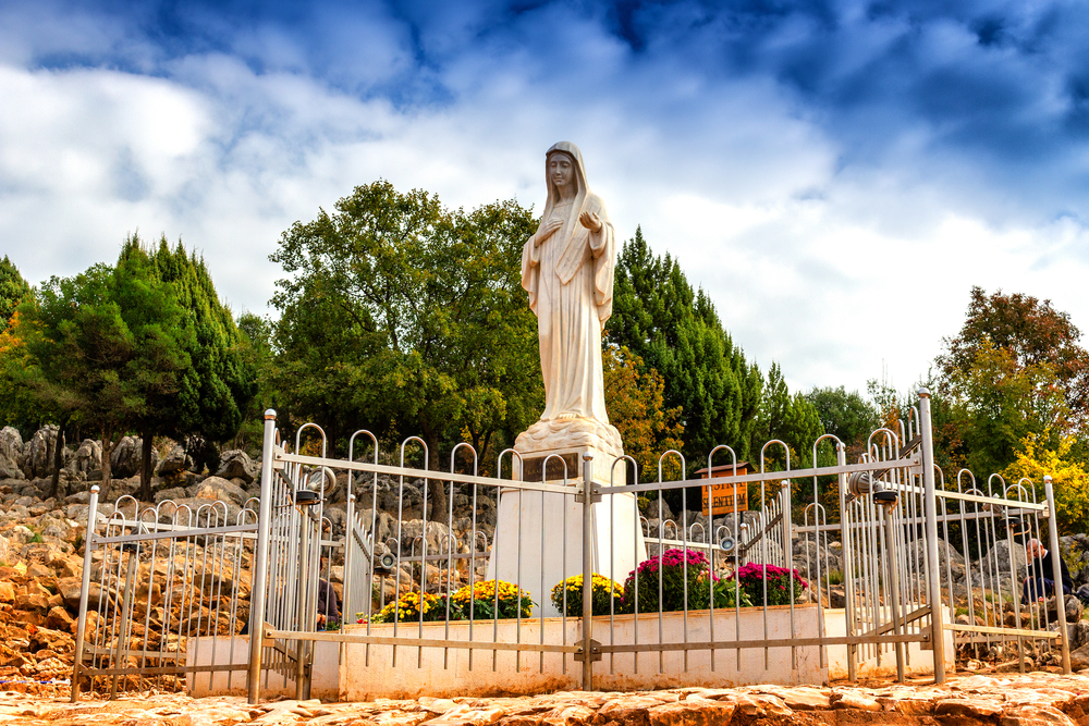 Blessed Virgin Mary Statue on Mount Podbrdo, the Apparition hill