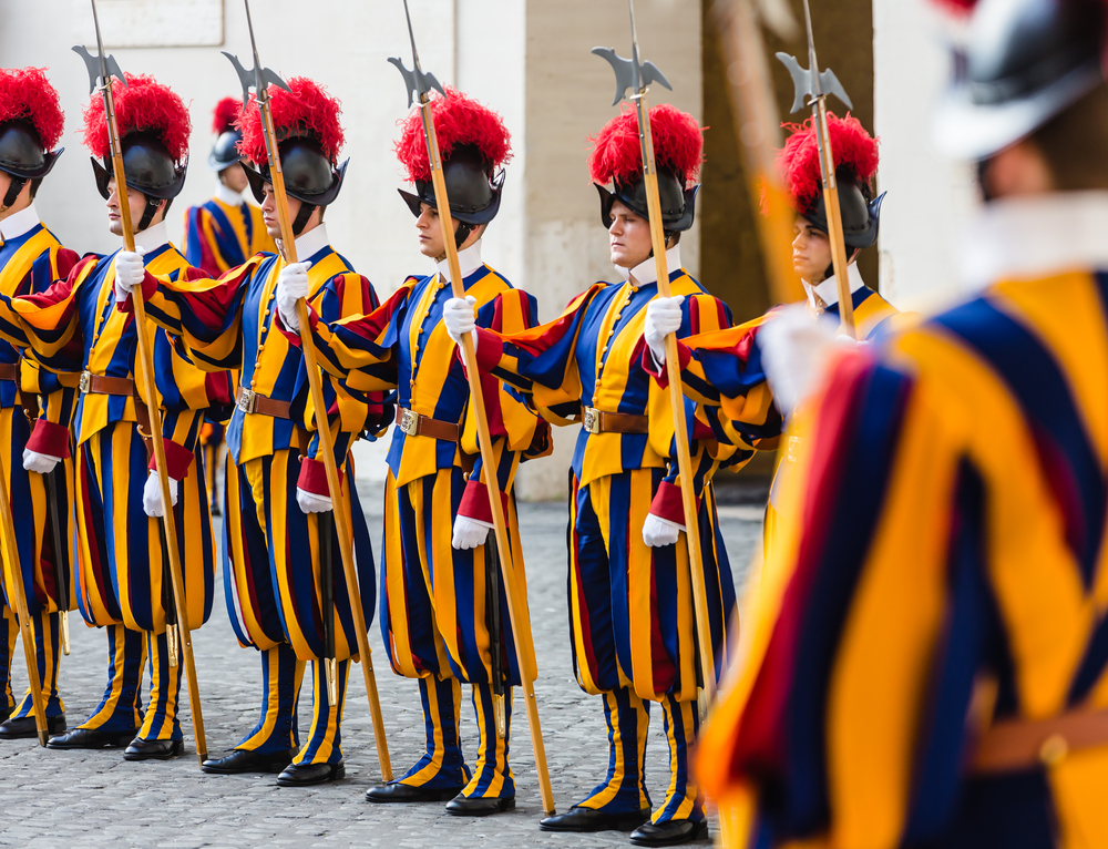 Swiss Guard outside the Vatican