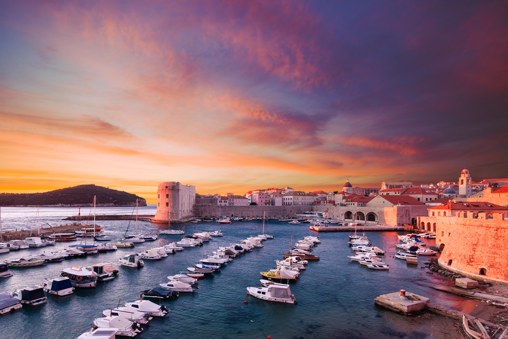 City port in Dubrovnik