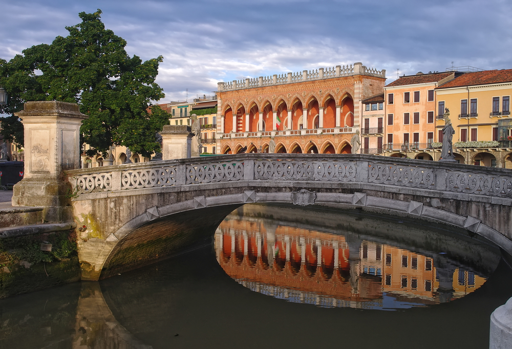 Beidge over the Canal of Prato della Valle square in Padua, Italy