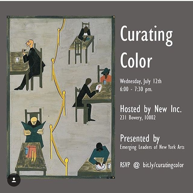 Join us tomorrow at @newinc!!! Curating Color is an invitation-only panel discussion with leadership from nationally and locally recognized arts organizations, who will discuss how to effectively curate programming centered on artists of color. Panelists include Gary Padmore, Director of Education and Community at the Orchestra of St. Luke's, Leah Dickerman, Marlene Hess curator of the Museum of Modern Art, Roberta Uno of ArtsChangeUS, and Milteri Tucker of Bombazo Dance Company. The panel will be moderated by Eun Lee, Executive Producer of The Dream Unfinished. Panelists will discuss the challenges, responsibilities, and successes of presenting works by artists of color through institutions which vary by both discipline and/or scale. Curating Color is invitation only, to encourage both panelists and audience members to speak about their experiences and philosophies with candor.  RSVP here: bit.ly/curatingcolor