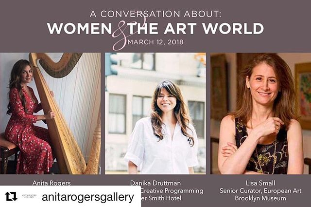 #Repost @anitarogersgallery ・・・ Visit the link in our bio to purchase tickets for our upcoming Conversation about Women & the Art World. We've partnered with @womenofculture1 and @elnya_ to facilitate a discussion about the issues facing women in the art industry today. Plus wine, snacks, gift bags and a private viewing of our current exhibition, Virva Hinnemo: Four Feet. #anitarogersgallery #womenofculture #elnya #womenempowerment #womensupportingwomen #womenshistorymonth #community #artworld